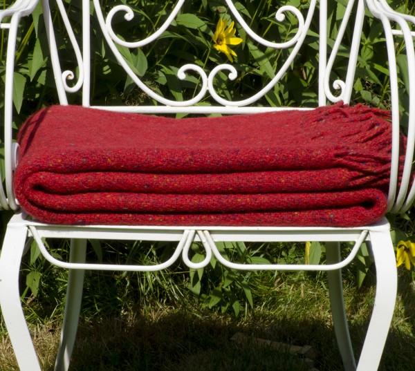 Handgewebte Decke, Donegal Fleck