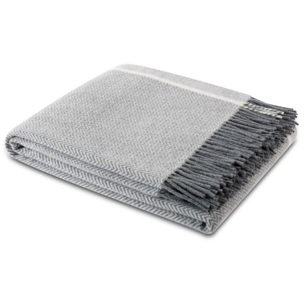 Kuschelweiche Schurwolldecke in grau