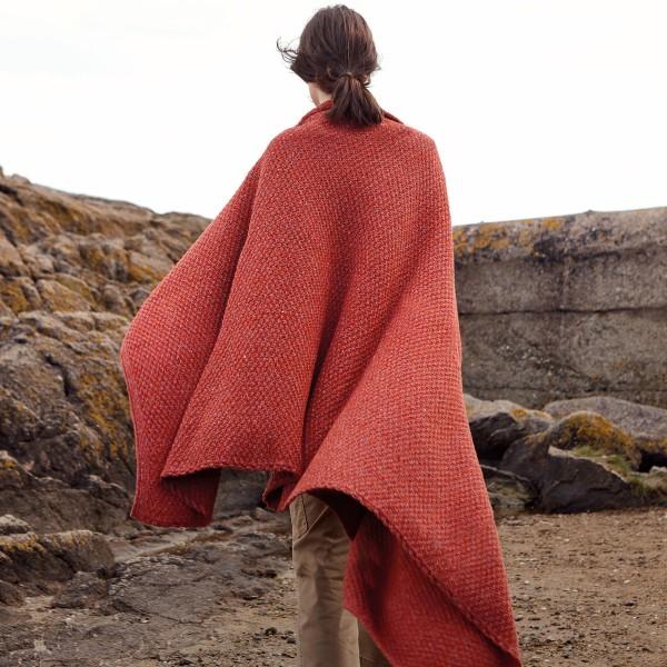 Strickdecke in Erdtönen | IrelandsEye