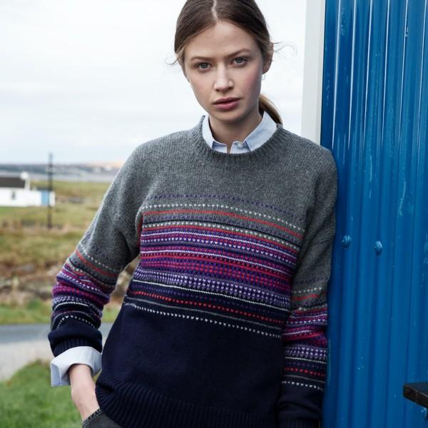 Pullover mit buntem Muster, mulesingfrei