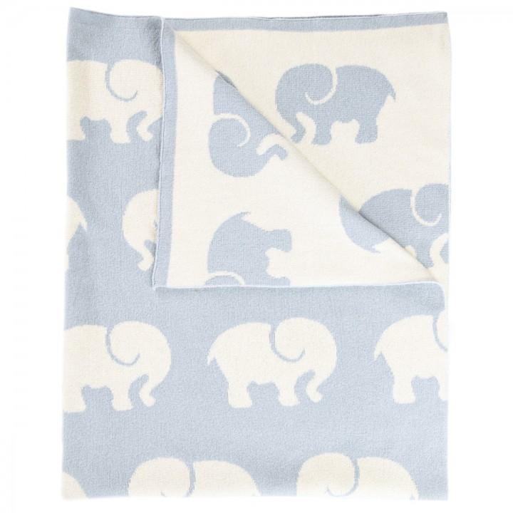 Blaue Babydecke aus Baumwolle