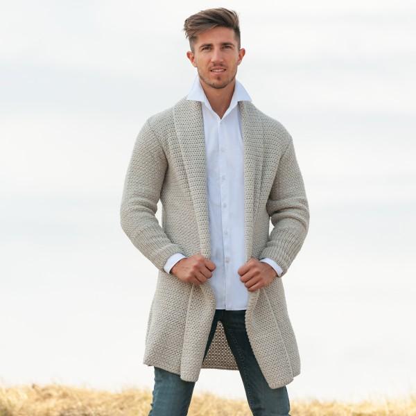 Coole Strickjacke aus Wolle